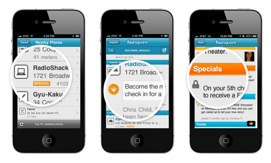 Foursquare socialmediablog gerson beltran specials