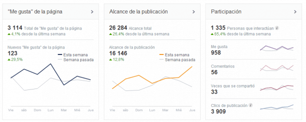 Resumen visión general Facebook Insights Socialancer
