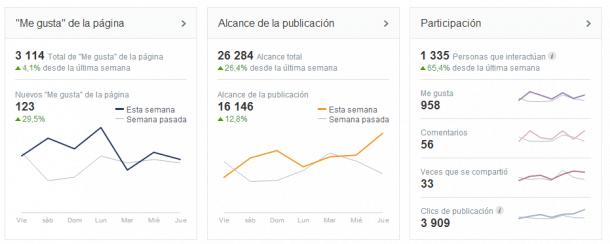 Resumen visión general Facebook Insights Socialancer