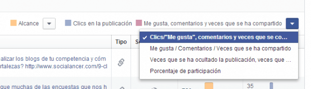 Todas las publicaciones Facebook Insights Socialancer