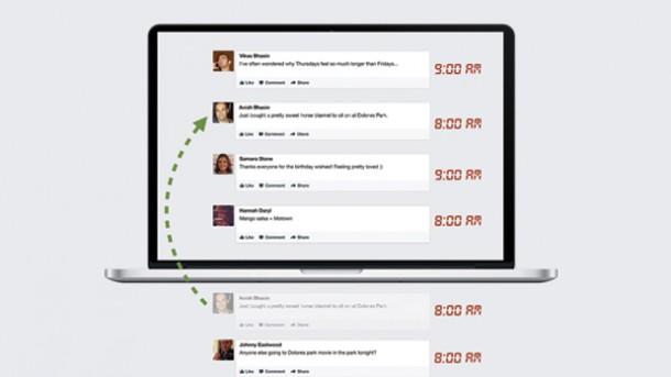 Organización historias News Feed Socialancer