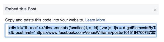 html publicaciones insertadas Facebook Socialancer