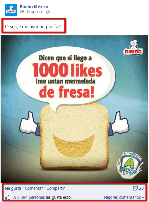 Ayuda fans Bimbo México Socialancer