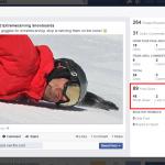 Clics de la publicación Facebook Socialancer
