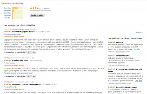 Opiniones Amazon. Socialancer