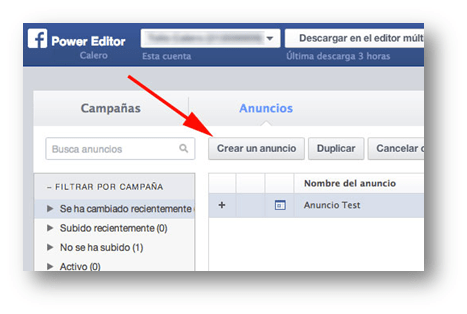 Anuncios Power Editor Socialancer
