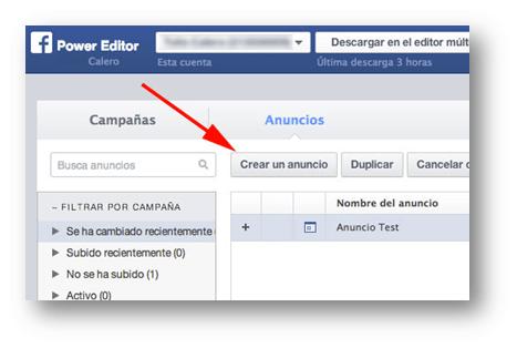 Anuncios Power Editor Socialancer