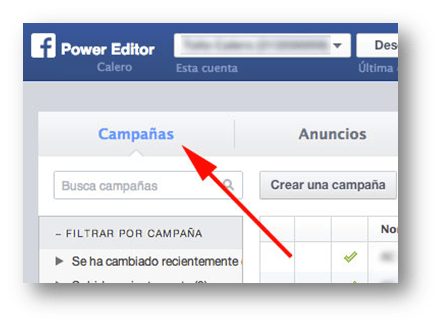 Campañas Power Editor Socialancer