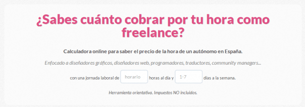 Calculadora freelance Socialancer
