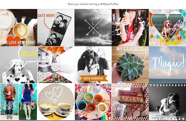 A Beautiful mess ejemplos socialancer 3 apps imprescindibles para crear imágenes de impacto