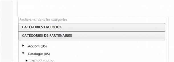 Categorías Facebook