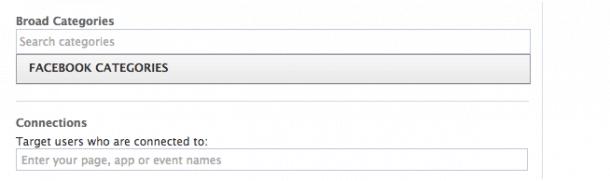 Categorías de socios Facebook