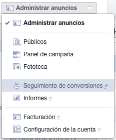 Administrador anuncios Facebook