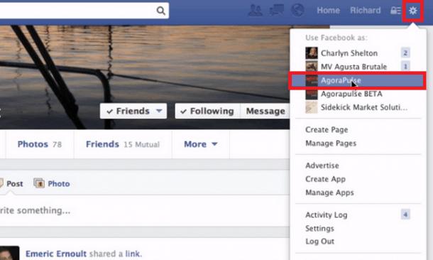 comment as a page old version 2 e1414625390312 [Novedad Facebook] Ya puedes gestionar los comentarios de forma más eficiente