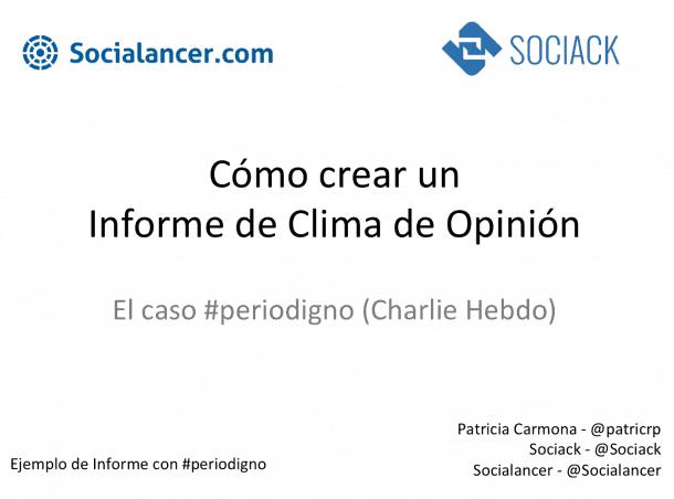 Crear informe de clima de opinión
