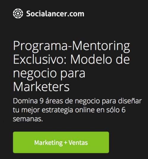 Programa Mentoring Modelo de Negocio e1425020403341 9 claves para diferenciarte de tu competencia en Marketing Online