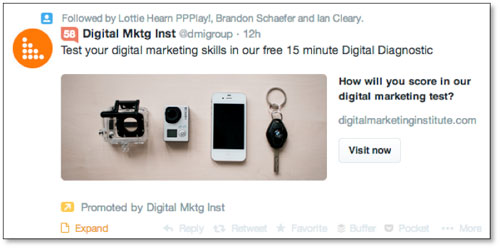 Twitter Ads con Website Card