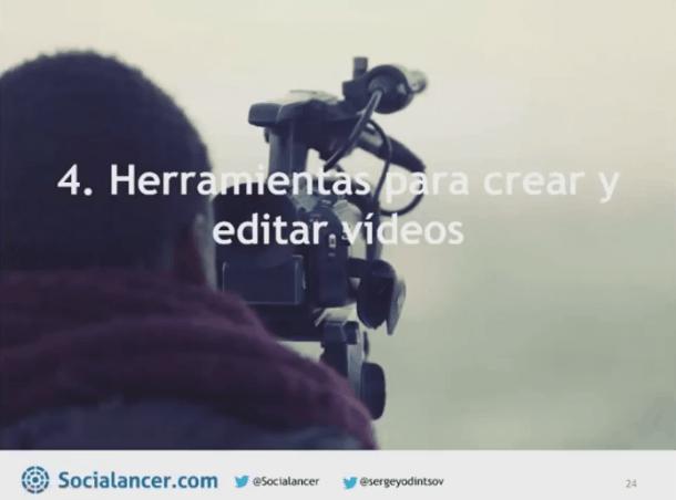 Herramientas creación y edición de vídeos