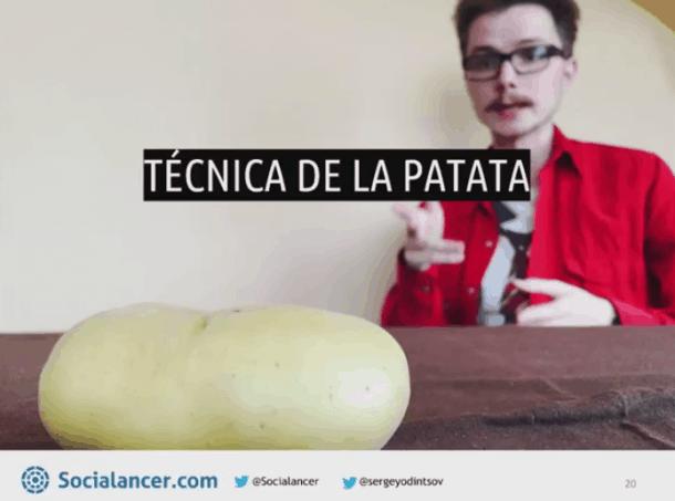 Técnica de la patata