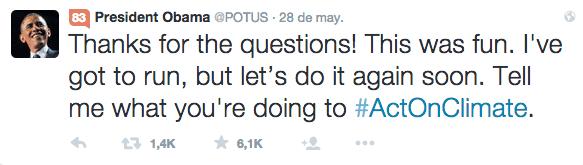 Barack Obama Twitter preguntas