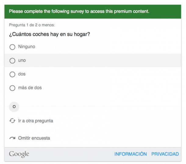 Ejemplo Google Surveys e1435219903911 Google Consumer Surveys: la nueva herramienta para analizar tu mercado