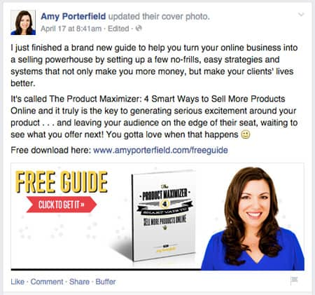 Amy Porterfield aumentar conversiones Facebook