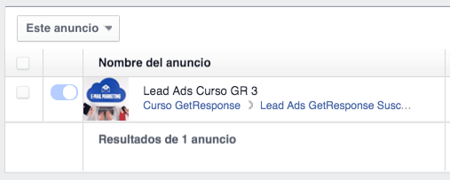 Facebook Lead Ads GetResponse