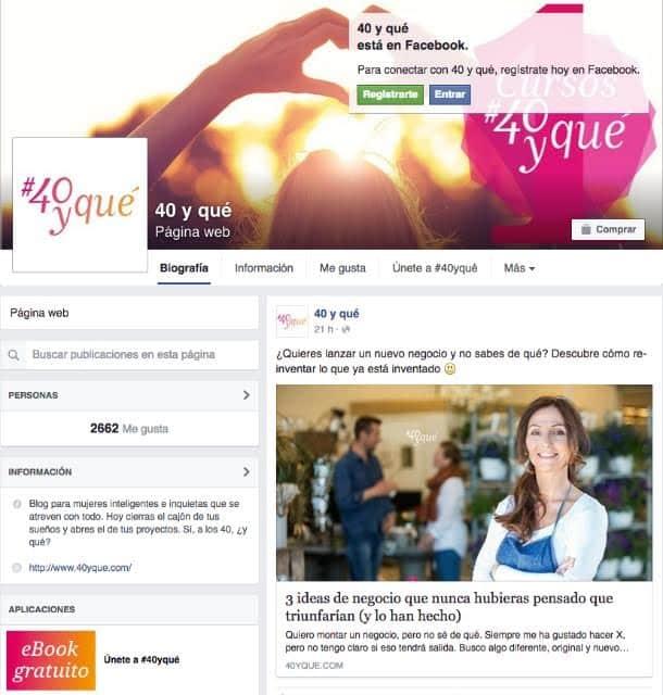 Facebook 40yqué