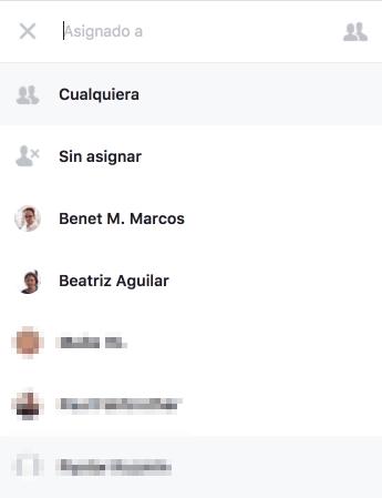 Facebook Messenger Asignar Usuarios