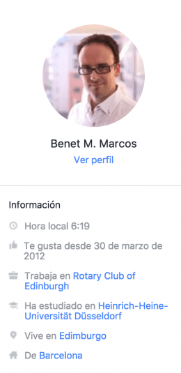 Perfil Usuario Facebook Messenger