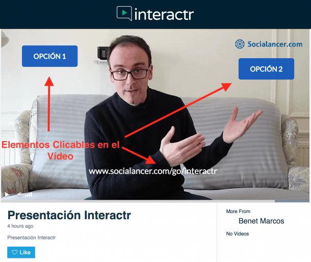 Interactr - Vídeo Interactivo Socialancer