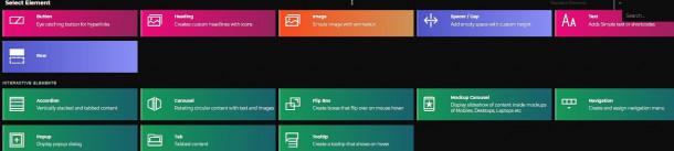 ThemeMaker. Elementos interactivos