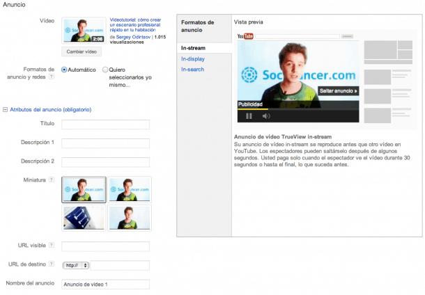 Administrar campaña de vídeo Youtube Socialancer