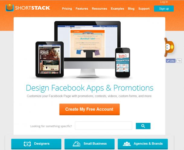 Shortstack diseño páginas Facebook
