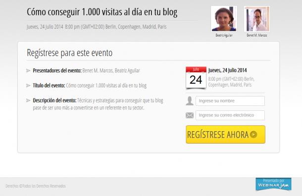 Webinar 1.000 visitas blog