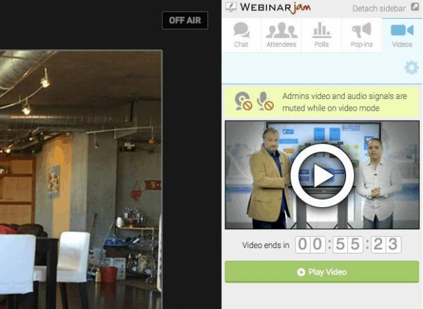 Vídeo WebinarJam