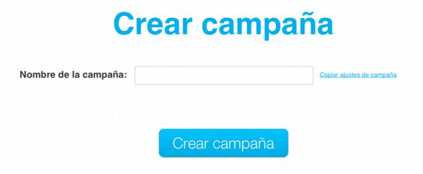 Crear campaña GetResponse