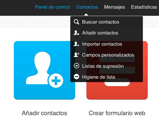 Importar contactos GetResponse