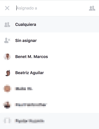 Facebook Messenger Asignar Usuarios