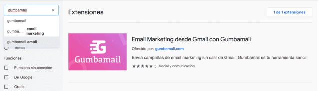 chrome store email marketing